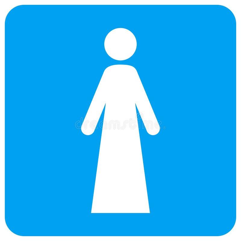Η γυναίκα στρογγύλεψε το τετραγωνικό εικονίδιο ράστερ διανυσματική απεικόνιση