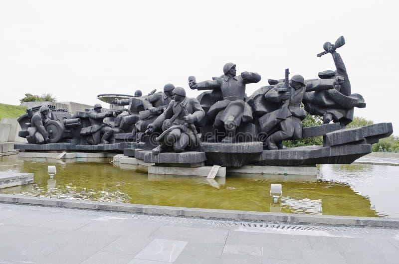 Η γλυπτική ομάδα «πέρασμα του Dnieper» στο Κίεβο στοκ εικόνες