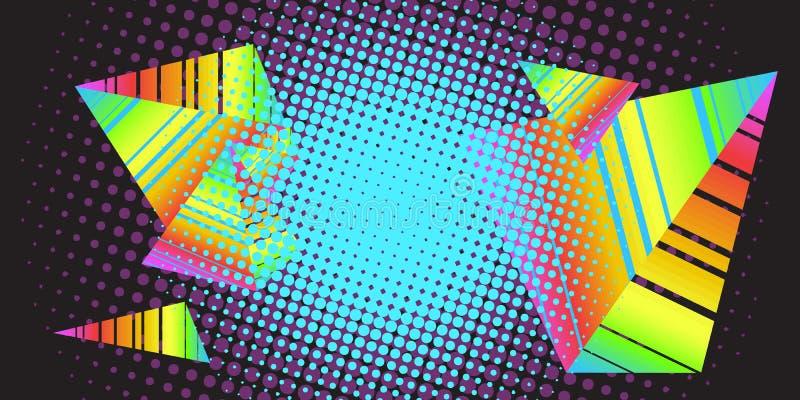 Η δεκαετία του '80 τριγώνων υποβάθρου απεικόνιση αποθεμάτων