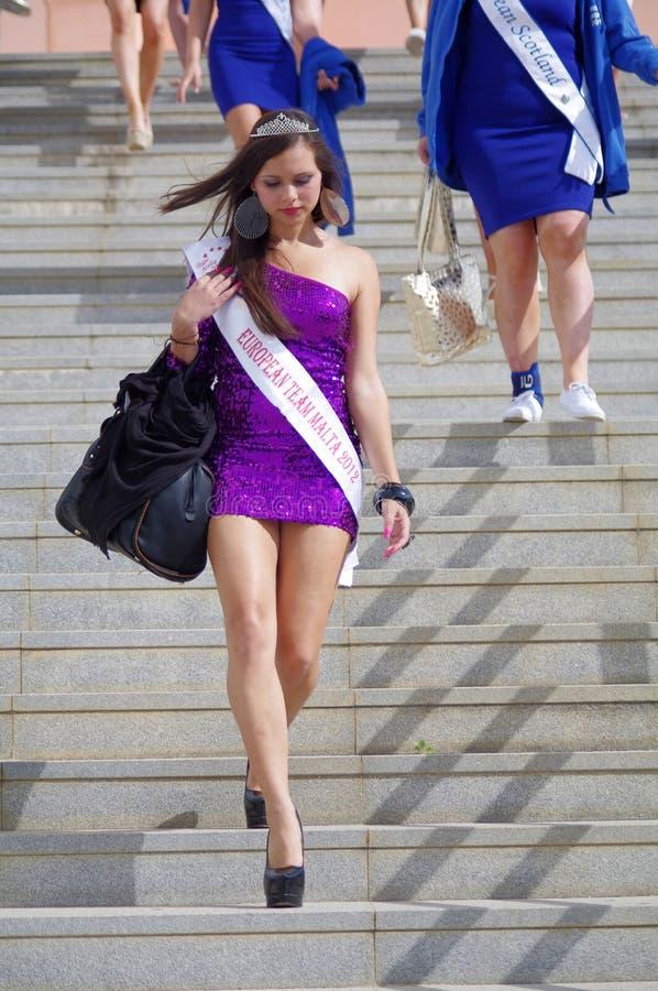 Η Δεσποινίς European στοκ φωτογραφίες