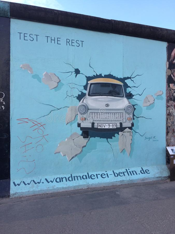 Η δευτερεύουσα στοά Βερολίνο est στοκ εικόνες