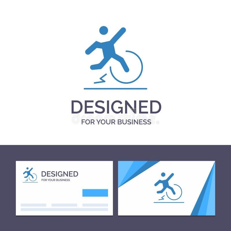 Η δημιουργική επιχείρηση προτύπων επαγγελματικών καρτών και λογότυπων, αλλαγή, άνεση, διαφυγή, αφήνει τη διανυσματική απεικόνιση ελεύθερη απεικόνιση δικαιώματος