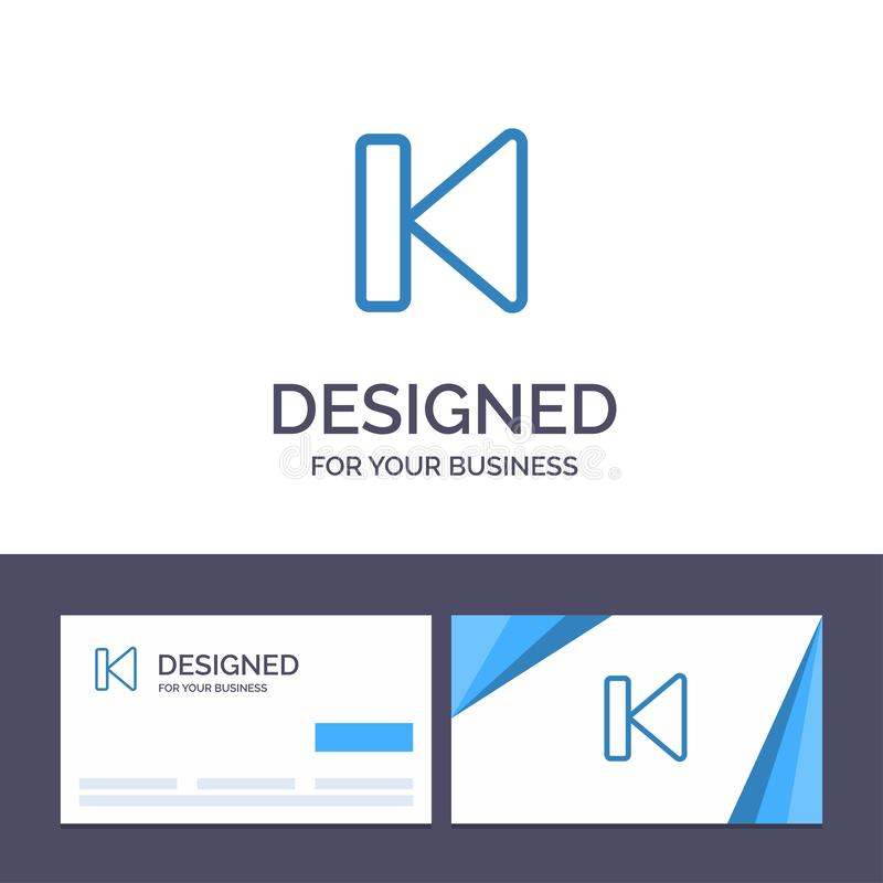 Η δημιουργική πλάτη προτύπων επαγγελματικών καρτών και λογότυπων, αρχή, έλεγχος, μέσα, αρχίζει τη διανυσματική απεικόνιση διανυσματική απεικόνιση
