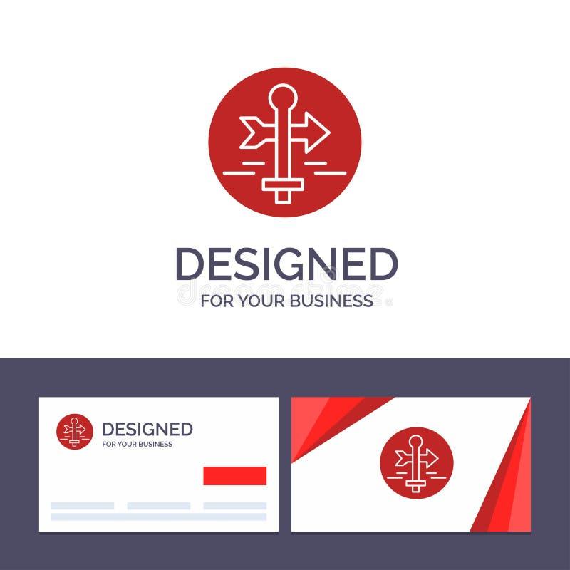 Η δημιουργικοί επαγγελματική κάρτα και ο πίνακας προτύπων λογότυπων, οδηγός, χάρτης, δείκτης χαρτών, ταξιδεύουν τη διανυσματική α ελεύθερη απεικόνιση δικαιώματος