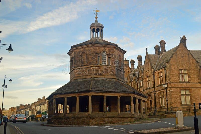 Η διαγώνια ή βουτύρου αγορά Barnard Castle αγοράς στοκ εικόνες