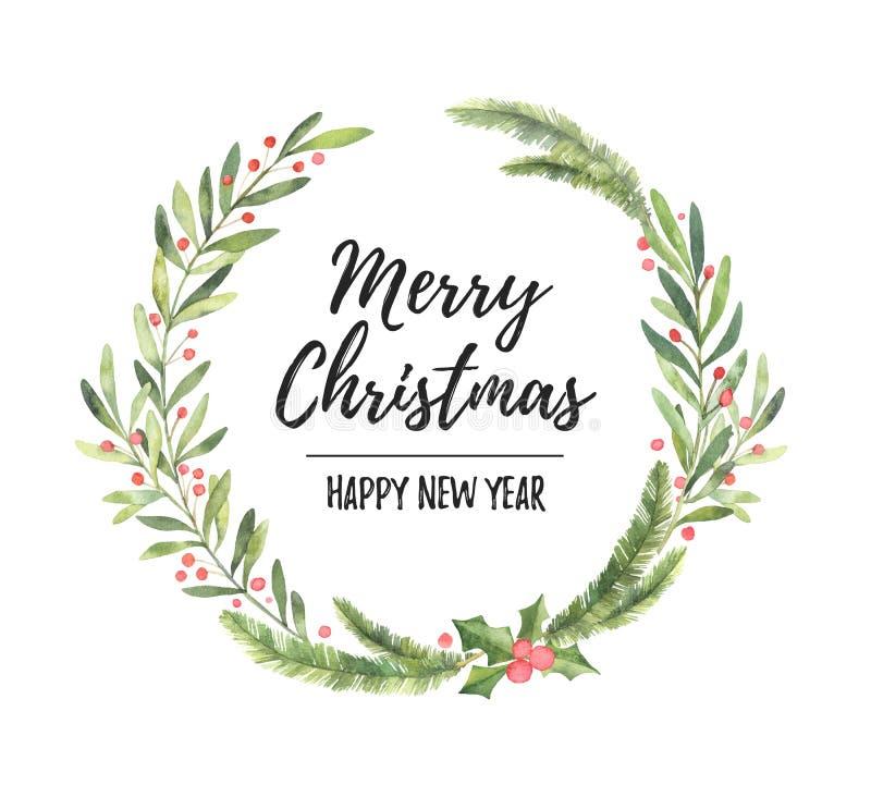 η διακοσμητική εικόνα απεικόνισης πετάγματος ραμφών το κομμάτι εγγράφου της καταπίνει το watercolor Στεφάνι δαφνών Χριστουγέννων  στοκ εικόνες με δικαίωμα ελεύθερης χρήσης