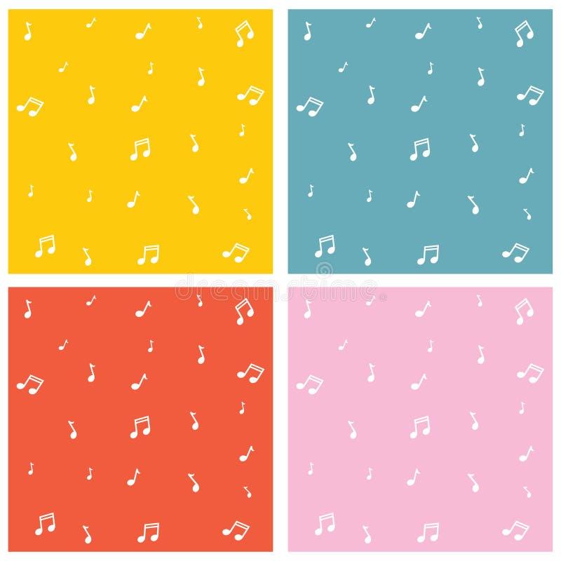 Η διανυσματική απεικόνιση της μουσικής σημειώνει το υπόβαθρο διανυσματική απεικόνιση