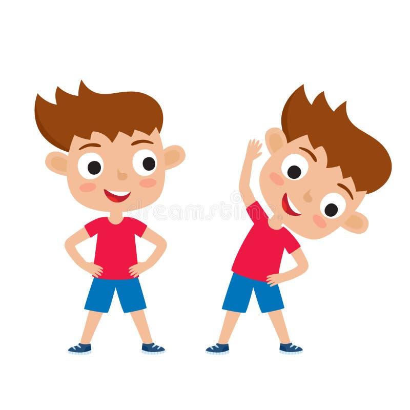 Η διανυσματική απεικόνιση του κοριτσιού στην άσκηση θέτει απομονωμένος στο άσπρο β διανυσματική απεικόνιση