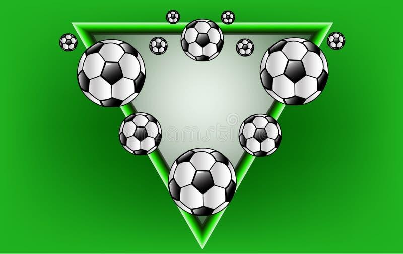 Η διανυσματική σφαίρα ποδοσφαίρου στοκ φωτογραφίες με δικαίωμα ελεύθερης χρήσης