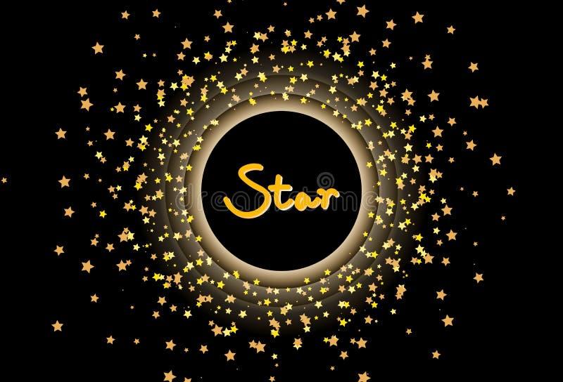 Η διασπορά αστεριών ακτινοβολεί πρότυπο εμβλημάτων πλαισίων βουρτσών κομφετί astron ελεύθερη απεικόνιση δικαιώματος
