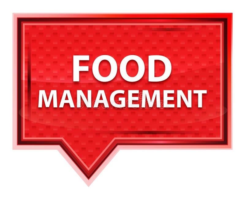 Η διαχείριση τροφίμων misty αυξήθηκε ρόδινο κουμπί εμβλημάτων απεικόνιση αποθεμάτων