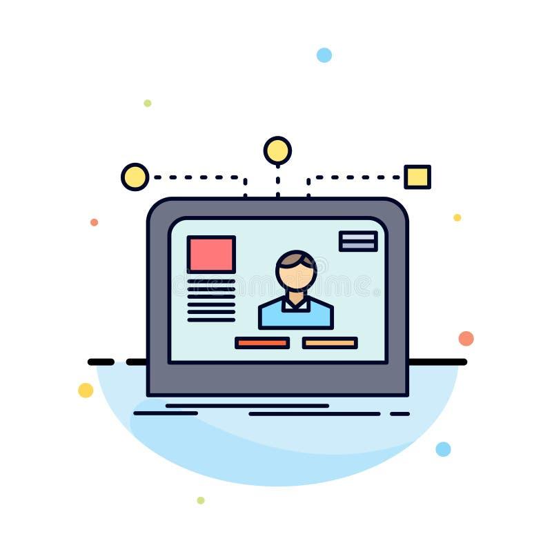 η διεπαφή, ιστοχώρος, χρήστης, σχεδιάγραμμα, σχεδιάζει το επίπεδο διάνυσμα εικονιδίων χρώματος διανυσματική απεικόνιση