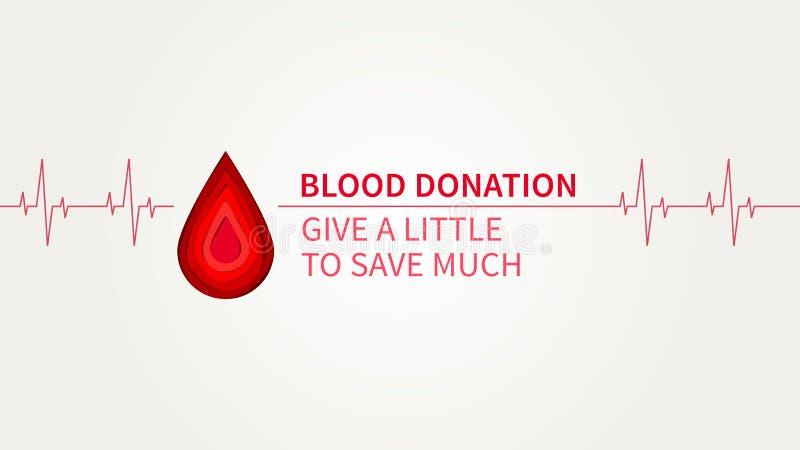 Η δωρεά αίματος δίνει λίγο για να σώσει πολλή διανυσματική απεικόνιση διανυσματική απεικόνιση