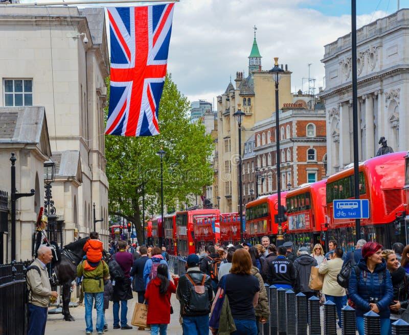 Η είσοδος στην παρέλαση φρουράς αλόγων στο Λονδίνο στοκ φωτογραφία