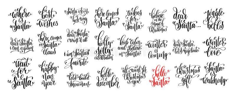 η εγγραφή 25 χεριών έθεσε το σχέδιο διακοπών Χριστουγέννων, χειμώνας διανυσματική απεικόνιση