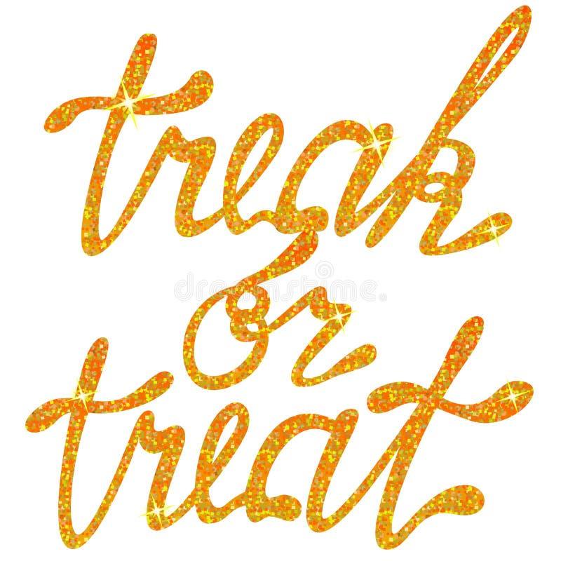 Η εγγραφή treak ή μεταχειρίζεται tinsels ελεύθερη απεικόνιση δικαιώματος