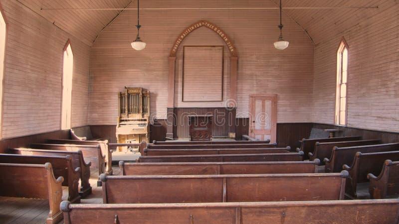 Η εγκαταλειμμένη εκκλησία του σώματος πόλεων-φάντασμα στοκ φωτογραφία