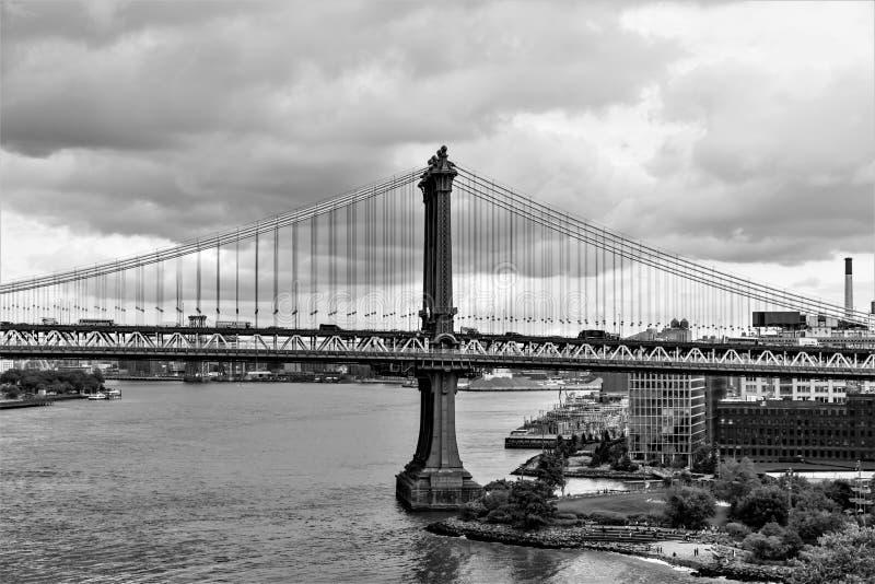 Η εικονική γέφυρα του Μανχάταν πόλη του Μπρούκλιν, Νέα Υόρκη, ΗΠΑ στοκ εικόνα