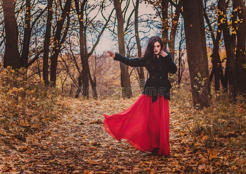Η εικόνα της μάγισσας μάγισσα Εορτασμός Μάγισσες Makeup στοκ φωτογραφίες