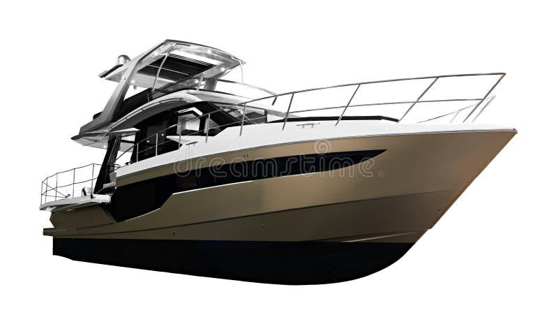 Η εικόνα της μεγάλης βάρκας μηχανών επιβατών πολυτέλειας στοκ εικόνες