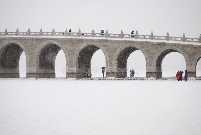 Η δεκαεπτά-αψίδα-γέφυρα στοκ φωτογραφίες