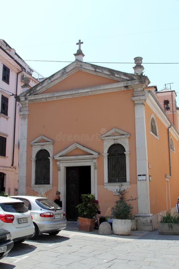 Η εκκλησία Αγίου Roch, Piran, Σλοβενία στοκ εικόνες