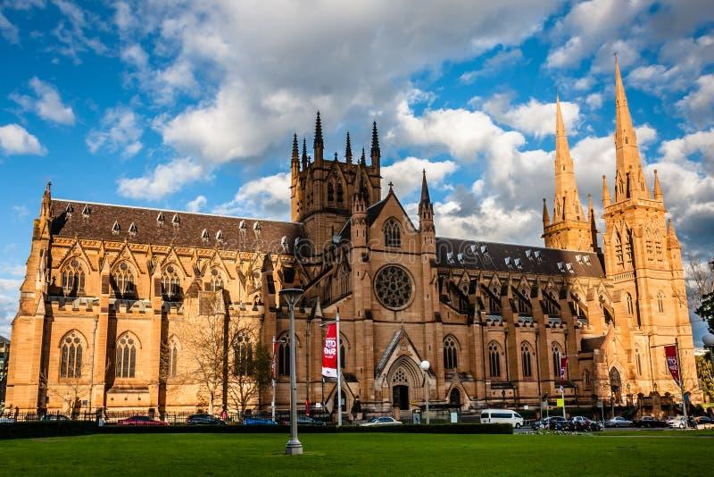 Η εκκλησία καθεδρικών ναών και η δευτερεύουσα βασιλική της αμόλυντης μητέρας του Θεού, βοήθεια των Χριστιανών, Σίδνεϊ στοκ φωτογραφία με δικαίωμα ελεύθερης χρήσης