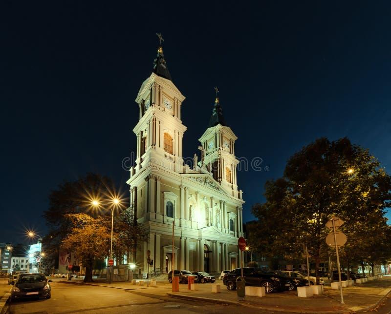 Η εκκλησία στο κέντρο της Οστράβα στοκ φωτογραφία με δικαίωμα ελεύθερης χρήσης