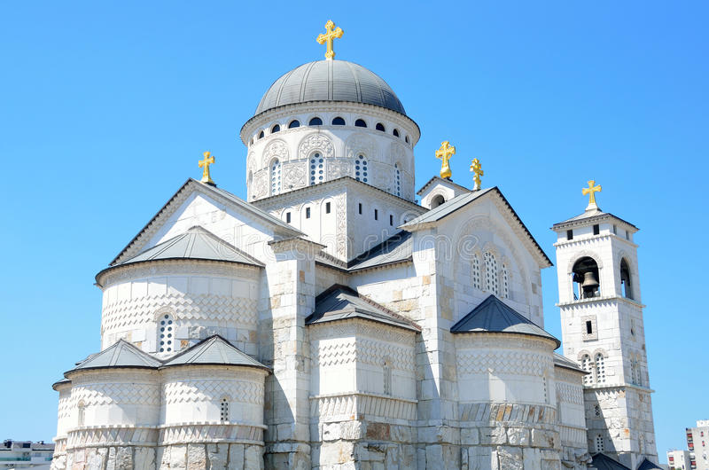 Η εκκλησία της αναζοωγόνησης σε Podgorica, Μαυροβούνιο στοκ φωτογραφίες