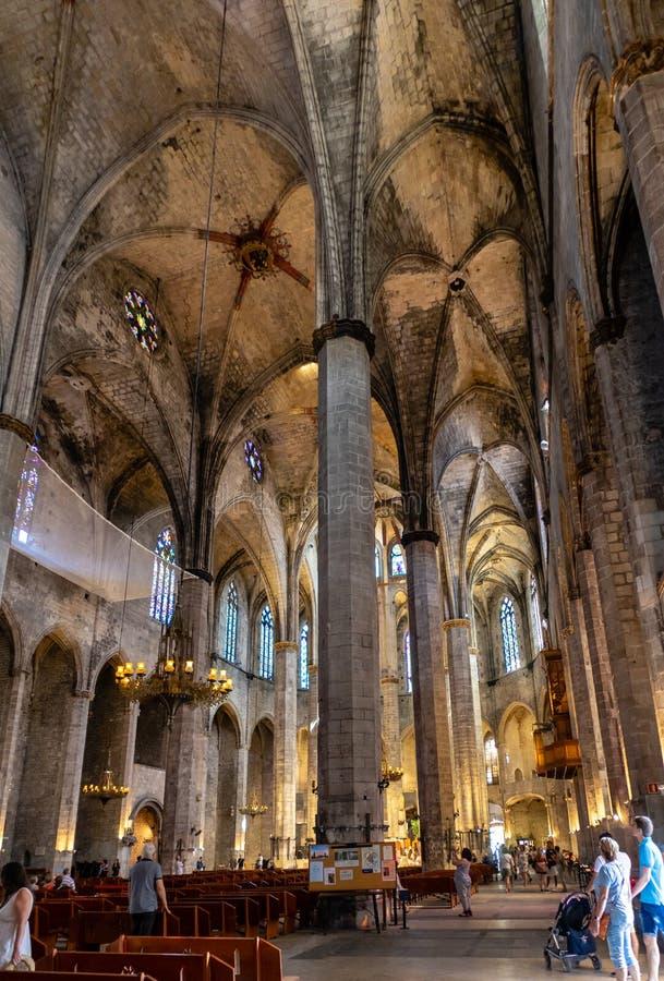 η εκκλησία της Βαρκελώνη& στοκ εικόνα