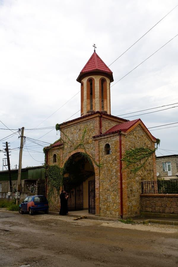 Η εκκλησία του Άγιου Βασίλη στην οδό Mayakovsky στοκ εικόνα