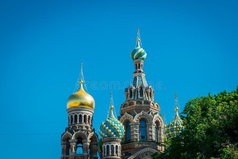 Η εκκλησία του λυτρωτή στο αίμα, Αγία Πετρούπολη, Ρωσία στοκ εικόνες