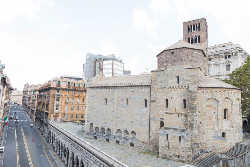 """Η εκκλησία Ï""""Î¿Ï… Santo Stefano ή Ï""""Î¿ abbey Santo Stefano στη Γένοβα στοκ φωτογραφίες με δικαίωμα ελεύθερης χρήσης"""