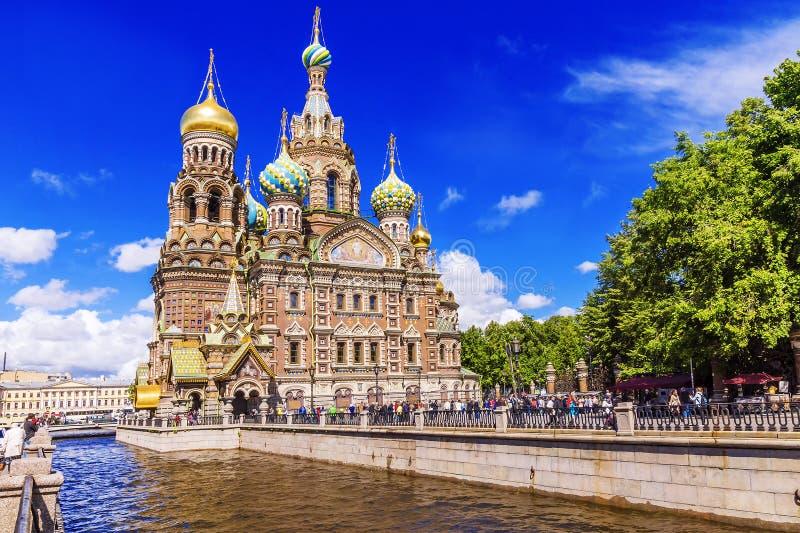 Η εκκλησία του Savior στο αίμα στη Αγία Πετρούπολη στοκ φωτογραφίες