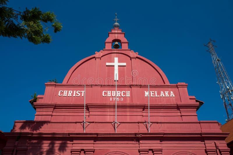 Η εκκλησία Χριστού Malacca, Μαλαισία στοκ φωτογραφία