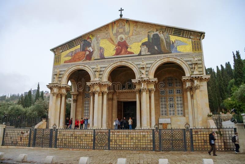Η εκκλησία όλων των εθνών ή η βασιλική της αγωνίας, είναι ένα ρωμαϊκό Γ στοκ εικόνες με δικαίωμα ελεύθερης χρήσης