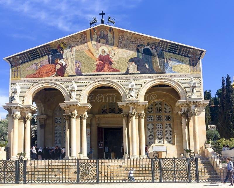Η εκκλησία όλων των εθνών ή βασιλική της αγωνίας στοκ εικόνα με δικαίωμα ελεύθερης χρήσης