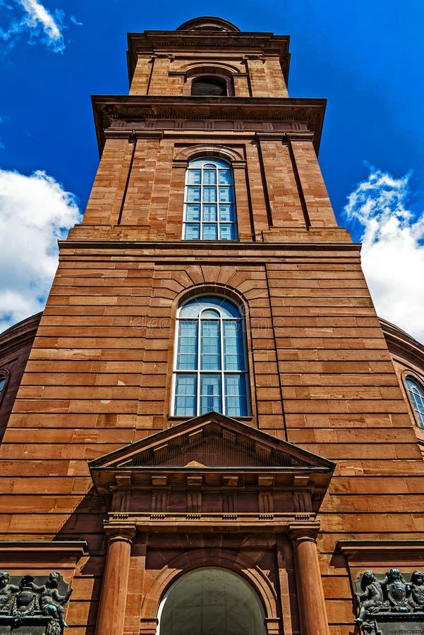 Η εκκλησία Paul's Paulskirche στο πρώτο γερμανικό σύνταγμα της Φρανκφούρτης επίλυσε εδώ, Γερμανία στοκ φωτογραφίες