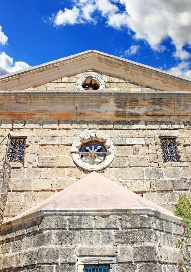 Η εκκλησία Άγιου Βασίλη του τυφλοπόντικα στην πλατεία Solomos στο νησί της Ζάκυνθου, Ελλάδα στοκ φωτογραφία με δικαίωμα ελεύθερης χρήσης