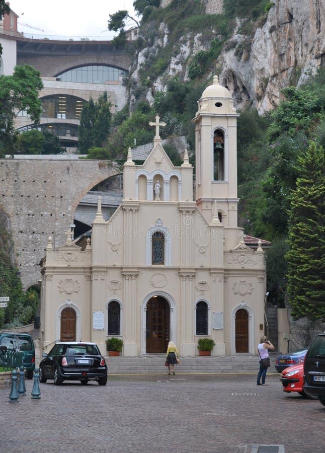 Η εκκλησία Αγίου αφιερώνει στο Μονακό στοκ εικόνα