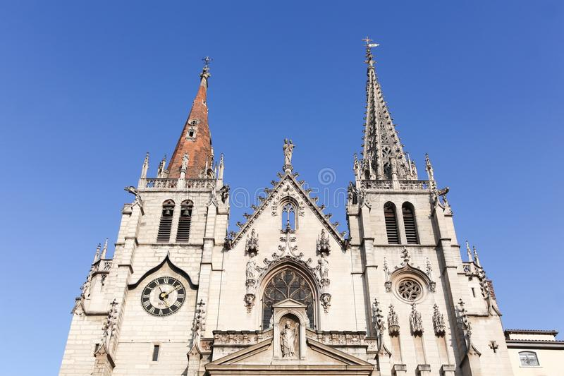 Η εκκλησία Αγίου Nizier στη Λυών, Γαλλία στοκ φωτογραφίες