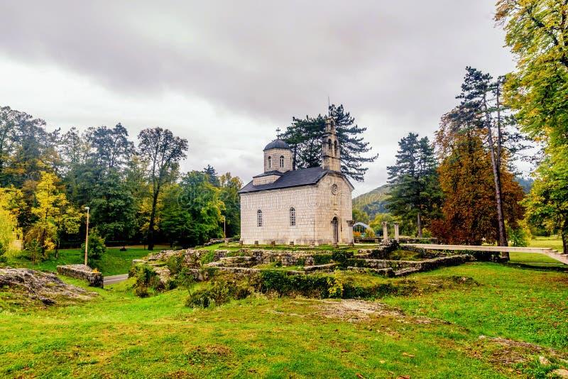 Η εκκλησία δικαστηρίου aka Vlaska σε Cetinje, Μαυροβούνιο στοκ φωτογραφία με δικαίωμα ελεύθερης χρήσης