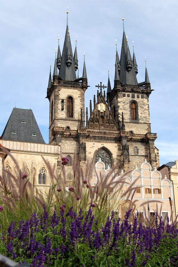 Η εκκλησία ν Πράγα Tyn στοκ φωτογραφία με δικαίωμα ελεύθερης χρήσης