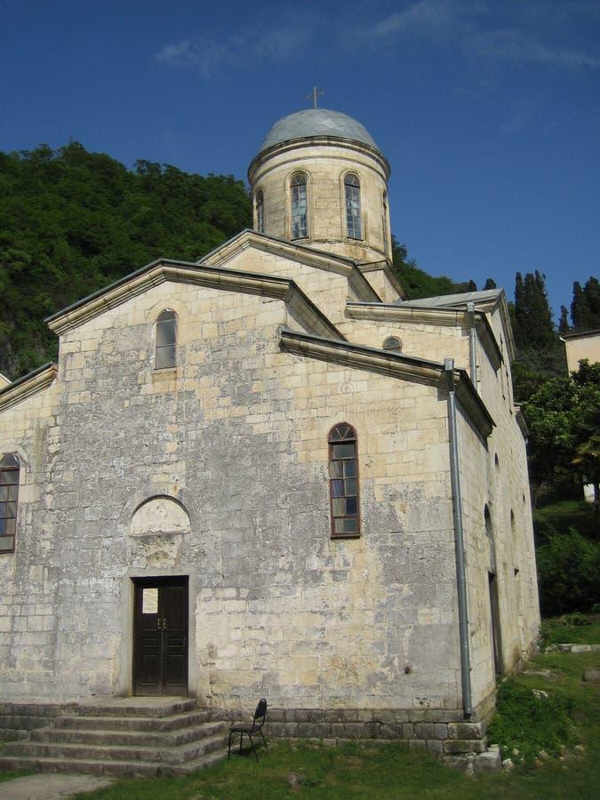 Η εκκλησία στην Αμπχαζία στοκ φωτογραφία με δικαίωμα ελεύθερης χρήσης