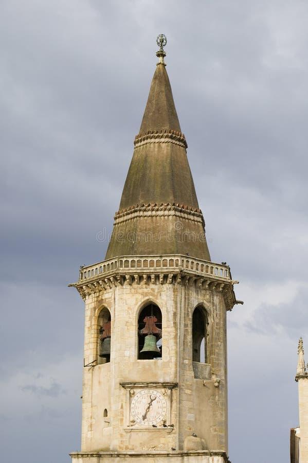 Η εκκλησία της Σάντα Μαρία κάνει Olival θεωρήθηκε ως εκκλησία μητέρων της διαταγής των ιπποτών Templar στην Πορτογαλία και είναι στοκ εικόνες