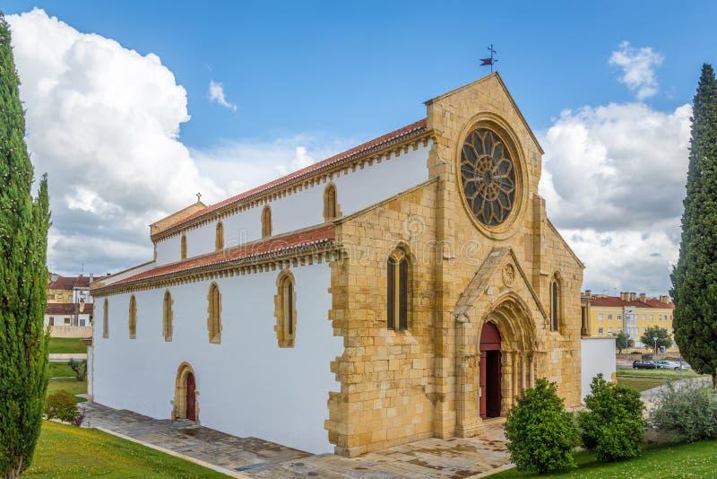 Η εκκλησία της Σάντα Μαρία κάνει Olival σε Tomar, Πορτογαλία στοκ εικόνες