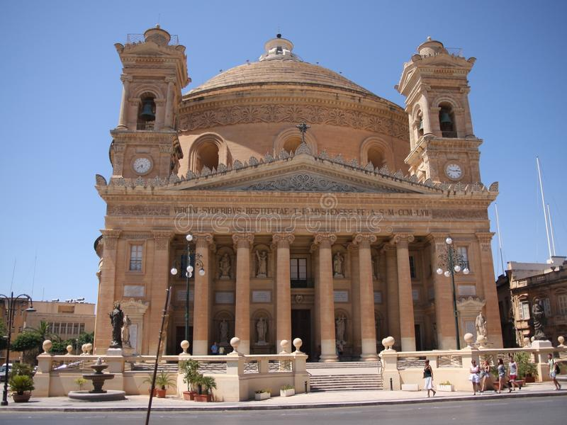 Η εκκλησία της υπόθεσης της κυρίας μας ή Rotunda Mosta ή Rotunda του ST Marija Assunta ή στοκ φωτογραφία με δικαίωμα ελεύθερης χρήσης