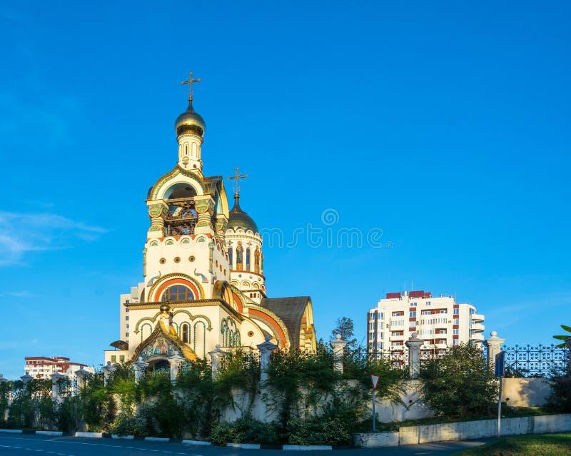 Η εκκλησία του πρίγκηπα Βλαντιμίρ του ST στο Sochi στοκ φωτογραφίες