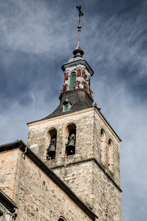 Η εκκλησία του SAN Martin Segovia, Ισπανία, χτίστηκε 12t στοκ φωτογραφίες με δικαίωμα ελεύθερης χρήσης