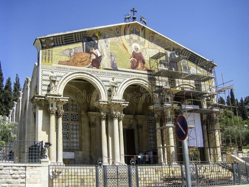 Η εκκλησία όλων των εθνών ή η βασιλική της αγωνίας, είναι ένα ρωμαϊκό Γ στοκ φωτογραφία με δικαίωμα ελεύθερης χρήσης